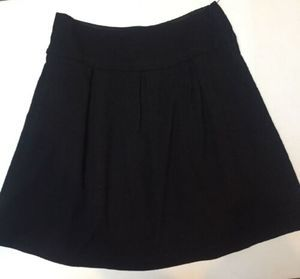 'S MAX MARA Navy Blue Pleated Skirt 6/8 Italy Wool